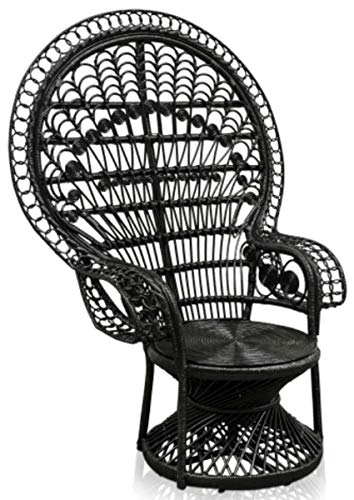 Casa Padrino rattan armchair black, Vintage Furniture