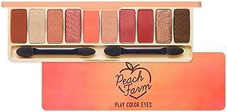 ETUDE HOUSE Play Color Eyes Peach Farm   Vivid 10 Color Eye Shadow Palette with Soft Texture and Fresh Peach-Like Shades for a Lovely Makeup   Kbeauty