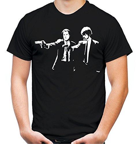Pulp Fiction Männer und Herren T-Shirt | Spruch Tarantino Kostüm Geschenk (XXL, Schwarz)
