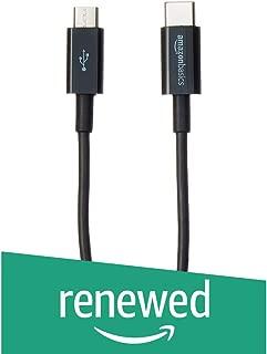 (Renewed) AmazonBasics USB Type-C to Micro-B 2.0 Cable - 6 inches (15.2 Centimeters) - Black