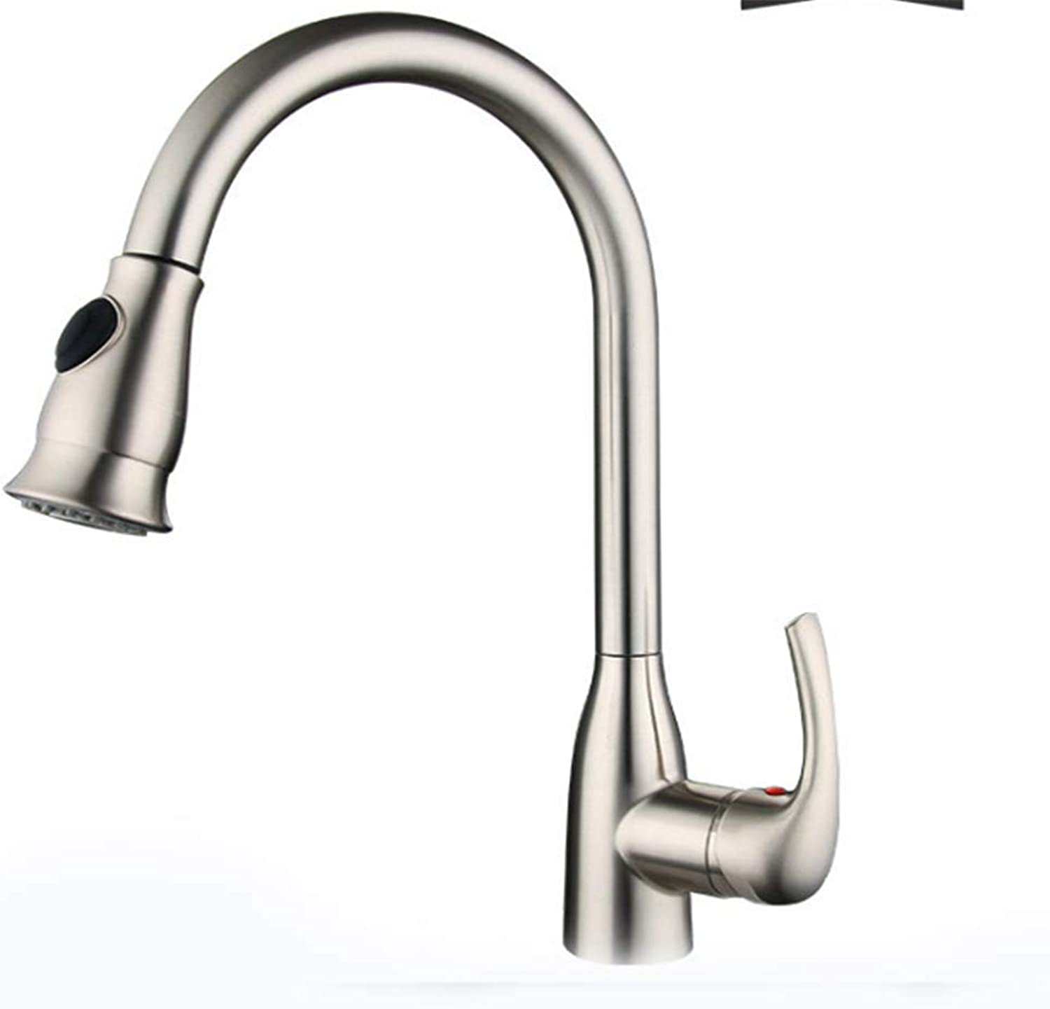 Kitchen Taps Faucet Modern Kitchen Sink Taps Stainless Steelsingle-Hole Cold and Hot Water Faucet Multi-Functional Sprinkler Kitchen Sink Faucet