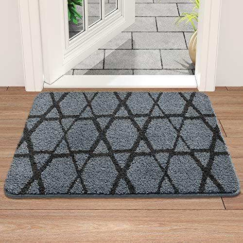 DEXI Indoor Doormat Front Door Mat, 36x24, Absorbent Non-Slip Entry Rug, Machine Washable Low-Profile Door Rugs for Entryway Indoor, Back Door, High Traffic Areas