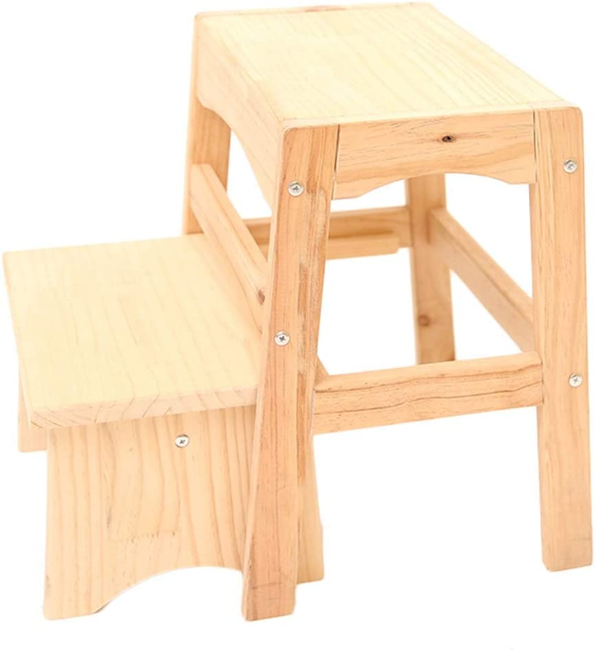 MY'S Wooden Spring new work one after another Step Stool 2 Steps Adult Home Bench Shoes Super sale period limited Ascending