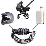 Mini Senior Reisegepäck Schlösser Helmschloss Tragbare Anti-Diebstahl-rücksetzbare 4-stellige Fahrrad Radfahren