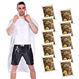 COOY Rain Ponchos,with Drawstring Hood (10 Pack) Emergency Disposable Rain Ponchos Family Pack...