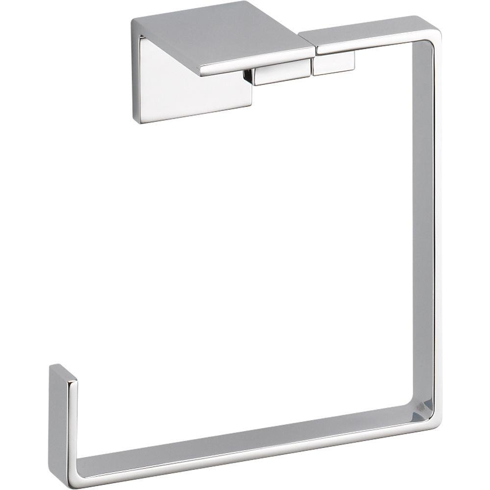 Delta Faucet 77746 Vero Towel Ring, Polished Chrome,6.50 x 6.50 x 2.91 inches