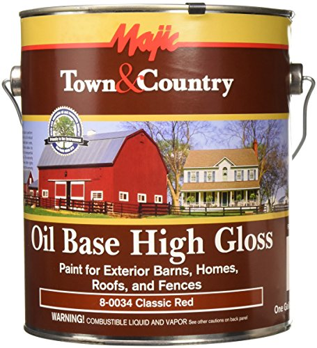 YENKIN MAJESTIC PAINT OB BHRF 8-0034-1 Oil Base Gloss BARN Home ROOF & Fence RED GAL