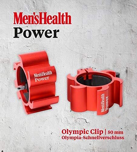 Men\'s Health POWER Hantel-Schnellverschluss Olympic Clip | Set von 2 Klammern - Ideal für Pro Crossfit Training - Profi Qualität