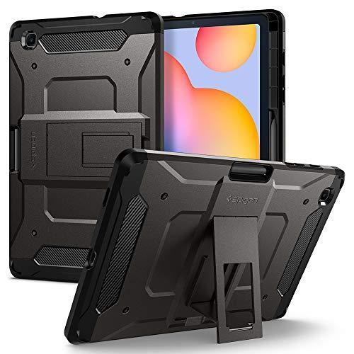 Spigen Tough Armor Pro Compatible con Samsung Galaxy Tab S6 Lite Funda con Soporte para Bolígrafo (2020) - Gunmetal