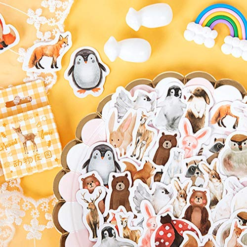 46 Stück/Packung Kawaii Animal Manor Aufkleber Tagebuch Scrapbooking Aufkleber Alben Telefon Foto Deko Aufkleber Kinderaufkleber
