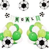 JeVenis Set von 21 Soccer Birthday Party Dekoration Set Soccer Ballons Soccer Ball Banner Soccer...