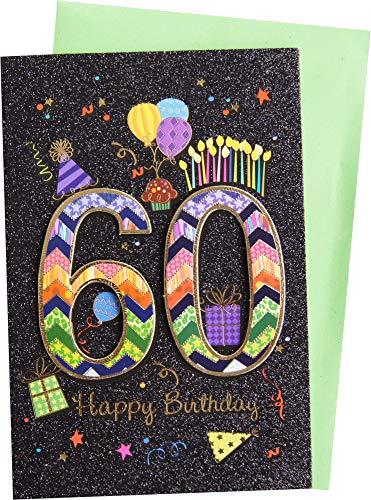 bsb Handmade Glückwunschkarte Grußkarte 60. Geburtstag 52-8860