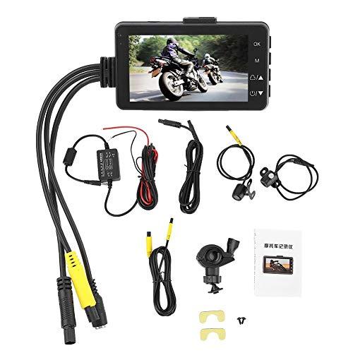 Moto double caméra, 1080P 3 pouces écran LCD système d'enregistrement caméra système enregistreur de conduite pour motos données caché enregistreur