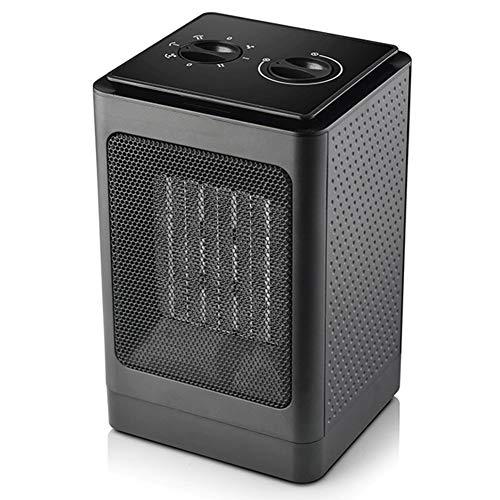 VIY Calefactor Eléctrico, PTC Calefactor de Aire Caliente, con Ahorro de energía de Alta Tecnología y Oscilación Automática y 3 Configuraciones de Temperatura,1500W (Negro)