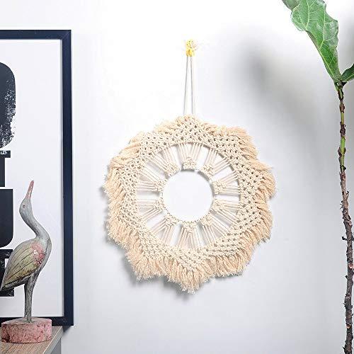 SWNN Tapestry Estilo Nórdico Tapicería Tejida Redonda Línea De Algodón De Fondo Decorativo Colgante Sofá Cama Mural De Pared