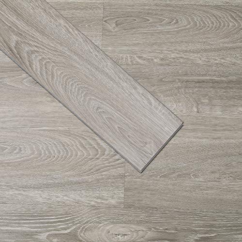 Soulscrafts Luxuriöser Vinyl-Bodenbelag LVT-Bodenbelag zum Klicken, 91,4 x 15,2 cm, wasserdicht, Schaumstoffrückseite, starrer Kern, Holzmaserung, Cantha-Eiche (10 Stück, 15,1 m²)