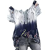 Womens Loose Plus Size Floral Print T-Shirt Tee S-5XL,...