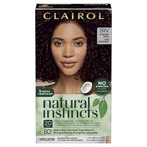 Clairol Natural Instincts Semi-Permanent, 2RV Burgundy Black, Blackberry, 1 Count