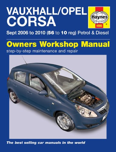 Price comparison product image Fastcar HAYNES VAUXHALL CORSA SEPT 2006-2010 (56 TO 10 REG) PETROL & DIESEL