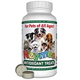 Nzymes Antioxidant Treats for Dogs Joints, Hips, Paralysis, Skin, Coat, Hair Loss, Aging, Digestion, Neurological, Seizures - 60 Treats - Made in The USA