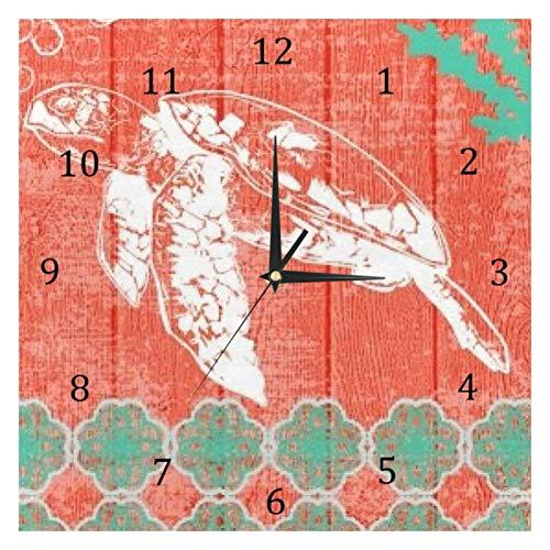 BestIdeas Wanduhren Schildkröte Roaming batteriebetriebene Zahlen Uhr für Schlafzimmer Wohnzimmer Küche Büro Home Decor leise & nicht tickend