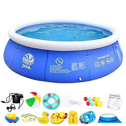 YHLZ Aufblasbare Schwimmbecken, Schwimm aufblasbares Pool Planschbecken Whirlpool Inflatable Pool, Kinder Beweglicher Haupt Eindickung 300 * 76cm (Size : B)