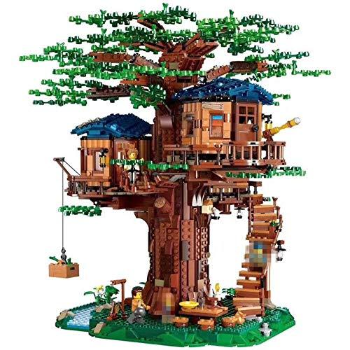 RUK 3036 Uds, Nuevo Modelo de árbol de la casa del árbol, Bloque de construcción, Juguete Educativo DIY para niños, Manual de Papel sin Caja