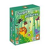 Janod- Jungle Pictures Mesa Infantil-Juego de educación lúdico Educativo-Certificado FSC-A Partir de 5años (JURATOYS J02642)