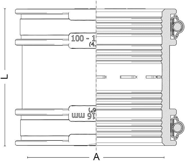 CRA16202 noir Crassus Adaptateur de tuyau CDC
