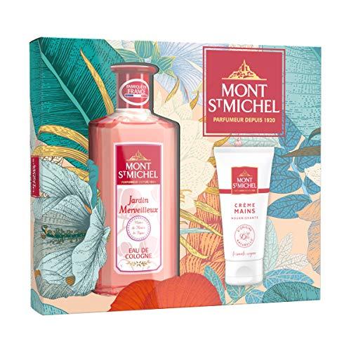 Mont Saint Michel - Coffret 2 Produits - Eau de Cologne Jardin Merveilleux - 250 ml - Crème Mains Nourrissante - 75 ml