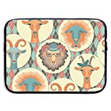 13 inch Goat Sheep Tribal Symbol Laptop Sleeve Protective Bag, Tablet Carrying Bag Notebook Computer Case Compatible MacBook Pro/Surface Book/Ultrabook/Chromebook