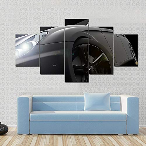 DBFHC Cuadro En Lienzo 5 Piezas Pintura Carro Moderno Fotos Material Te Jido No Tejido Arte Pared Decoración Hogareña Impresió