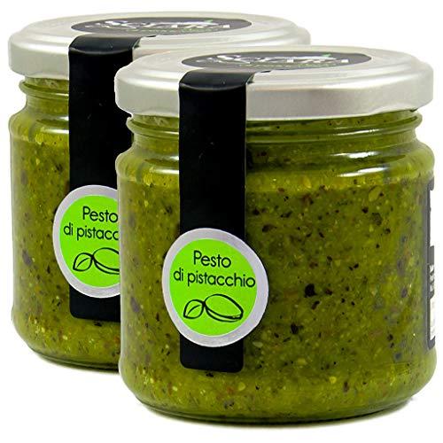 Pesto di Pistacchio - 2X Pesto di Pistacchio Sciara vaso da 190g, adatto per i primi piatti di pasta, gustose bruschette o sfiziose seconde portate - 2X 190g