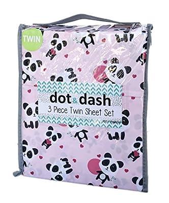 Dot Dash Cute Panda Themed Children's Novelty Sheet Set