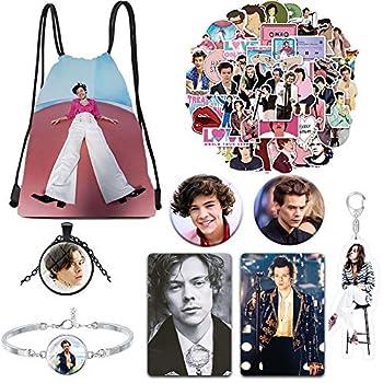 Fashion Singer Merch 1 Drawstring Bag +50pcs Stickers +2 Button Pins +1 Keychain +Bracelet +1 Necklace +2 Card Stickers  A