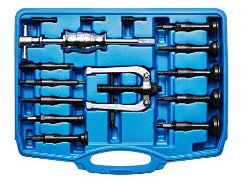 KRAFTPLUS K.277-1516 Grundloch Innenlager Abzieher Satz Lagerabzieher Innenauszieher Innenabzieher Werkzeug Gleithammer 16-tlg (Ø von 8 bis 58 mm)