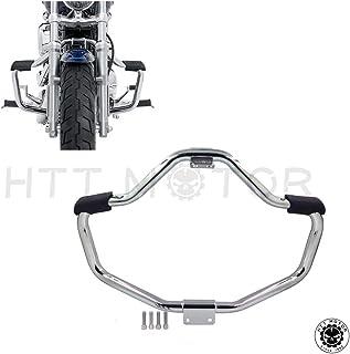 HTTMT Front Crash Bar Compatible with 2004-2016 Harley Davidson Sportster Iron 883 XL883N XL1200N XL1200L 48 XL1200X Saftey Bars Protection Tube Chrome [P/N: MT504-002-CD]