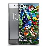 Head Case Designs Officiel Suzan Lind Vitrail Oiseaux Coque en Gel Doux Compatible avec Sony Xperia...