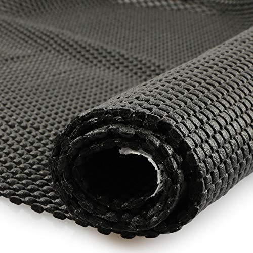 fowong Multipurpose Large Non-Slip Mat,150 x 100 cm PVC Grid Pattern Anti-Slip Gripper Roll,Waterproof Non-Slip Liner Mat for Rug Gripper Car Roof Rack, Home&Office - Black