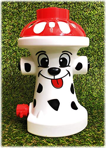 Matty's Toy Stop FIDO The FIRE Dog Hydrant Water Sprinkler for Kids, Attaches to Standard Garden Hose & Sprays Up to 10 Feet High & 16 Feet Wide, Measures 10.75' High