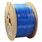 Dripstone 500ft CAT7 S/FTP in-Wall (CMR Rated) UL Listed Bare Copper Solid 23AWG Conductor 600Mhz Fluke Tested Ethernet Wire (Blue) (600032)
