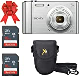 Sony Cyber-Shot DSC-W800 Digital Camera 20.1 MP (Silver) Classic Bundle with 2X 16GB...