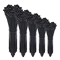 Wide Use: perfect for home, office, garage, travel and workshop tidy, whenever you need sort out your different wires, zippers and other accessories, it's a good choice Heat resistant & Heavy Duty: Black Cable Ties are safe to use even when the cable...