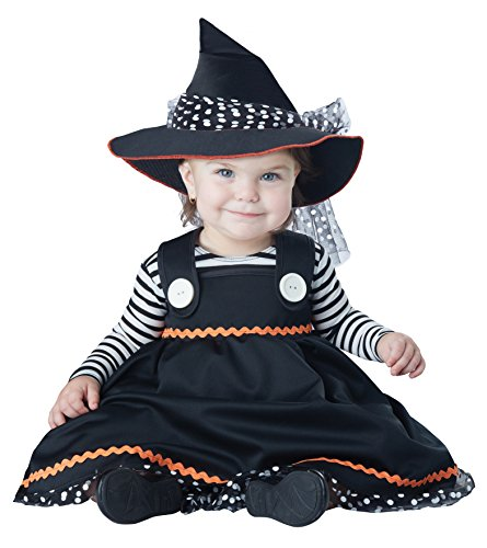 California Costumes Baby Girls' Crafty Lil' Witch Infant, Black/White, 12 to 18 Months