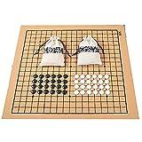 YAMMY Go Game, Chess Use For Match 19 Line 361Pcs Chessman Go Chess Game Bolsa de Tela de Tablero de ajedrez de Cuero Weiq (ajedrez)