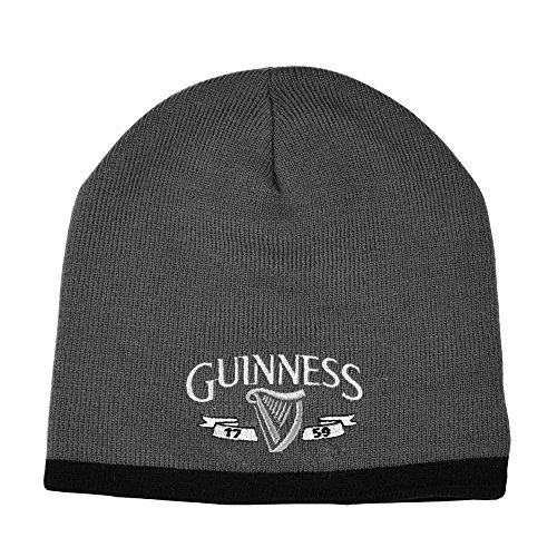 Guinness Official MerchandiseHerren Strickmütze Grau Grau