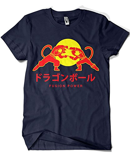1395- Camiseta Premium,Dragonball - Fusion Power (Blanco L,)