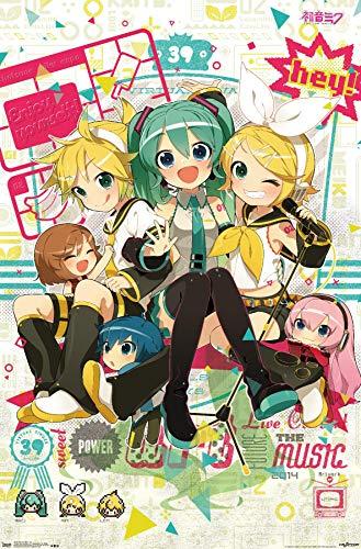 "Trends International Hatsune Miku Hey Wall Poster 22.375"" X 34"""