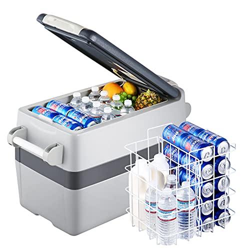 Setpower AJ40 42 Quarts Portable Freezer Fridge 12V Cooler, 0℉-50℉, DC 12/24V, AC 110-240V, Car Fridge Compact Refrigerator, for Truck, Van, RV Road Trip, Outdoor, Camping, Picnic, BBQ, Patio