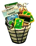 Golf Lover's Golfing Caddy Gift Basket -Fun Gift Idea for Holidays or Birthdays